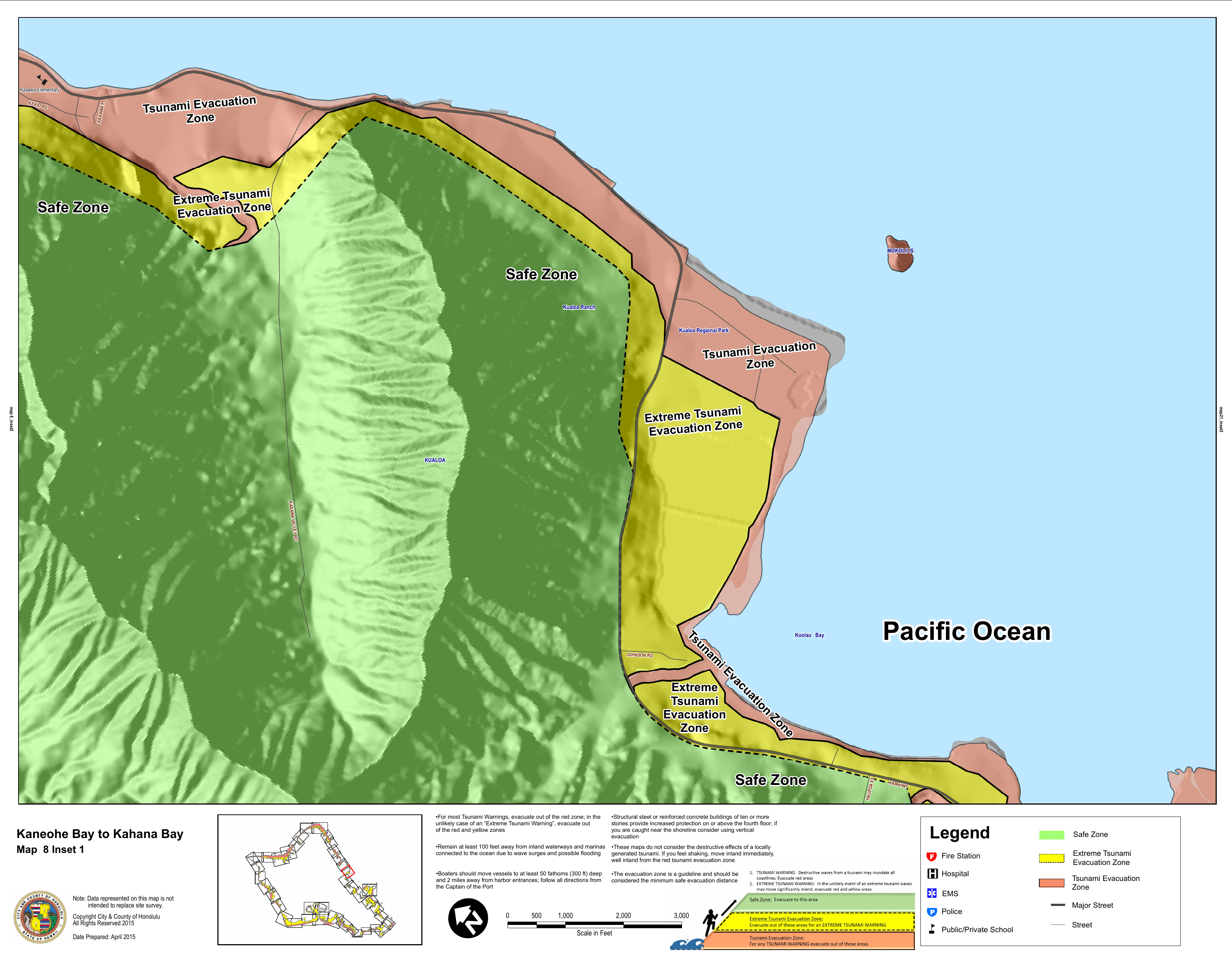 hawaii state tsunami evacuation maps